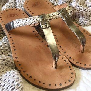 ce3c1297b76 Ugg Bria braided sandal silver